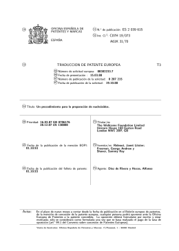 NUCLEOSIDOS TERAPEUTICOS(ES2039615)