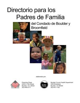Directorio para los Padres de Familia