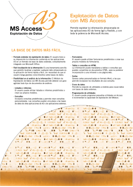 Explotación de Datos con MS Access
