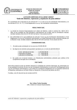 Cartel Sede Atlántico-Cambio Pista Atletismo