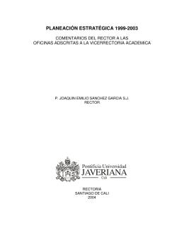 Vicerrectoría Académica - Pontificia Universidad Javeriana, Cali