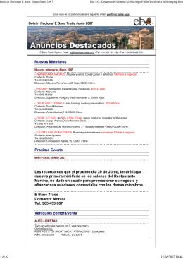 Boletín de Junio 2007