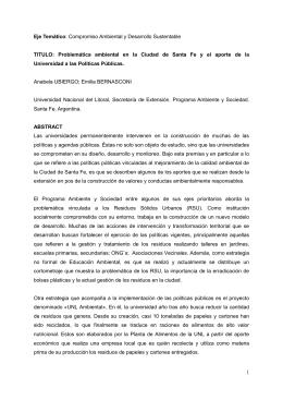 Ponencia - Secretaría de Extensión | UNICEN