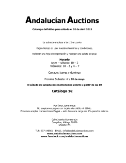 Andalucían Auctions