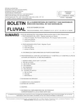 Boletin Fluvial 36 - Subsecretaría de Puertos y Vías Navegables