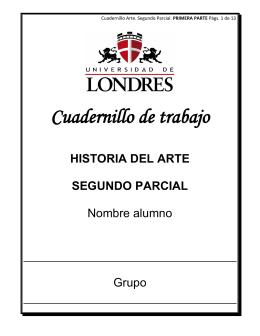 Cuadernillo de trabajo HISTORIA DEL ARTE SEGUNDO PARCIAL