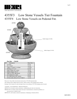 4355F3 Low Stone Vessels Tier Fountain