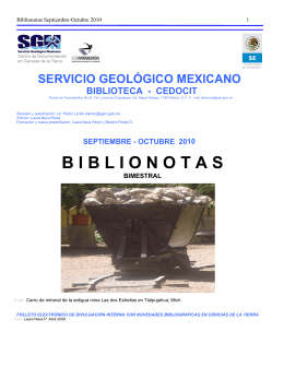 Septiembre-Octubre - Servicio Geológico Mexicano