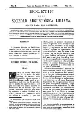 SOCIEDAD ARQUEOLÓGICA LULIANA,