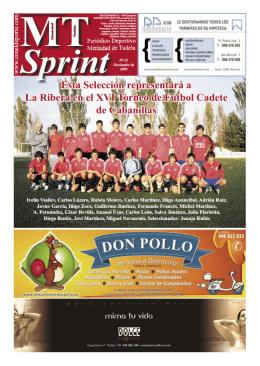 Esta Selección representará a La Ribera en el XVI Torneo de Fútbol