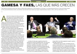 """Descargar pdf """"GAMESA Y FAES, LAS QUE MÁS CRECEN"""""""