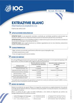 FT EXTRAZYME BLANC (ES) - Institut Oenologique de Champagne