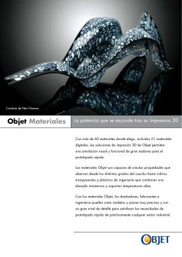 Objet Materiales - w w w . c i m c o . c o m .m x