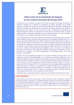 Cifras clave de la enseñanza de lenguas en los - EACEA