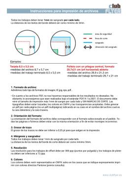 Instrucciones para impresión de archivos