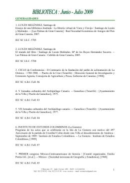Junio - Julio 2009 - Instituto de Estudios Canarios
