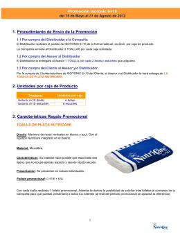 Promoción Isotonic 6+10 1. Procedimiento de Envío de la