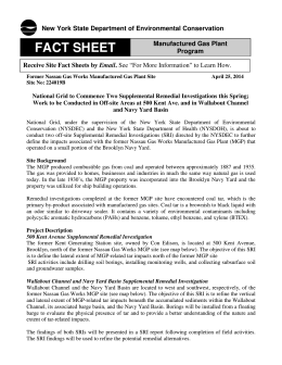 FACT SHEET - Nassau Works Former MGP