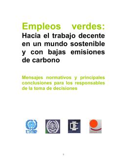 Informe Empleos Verdes de la OIT