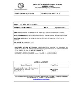 pliego - Instituto de Investigaciones Médicas Alfredo Lanari