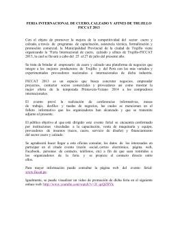 FERIA INTERNACIONAL DE CUERO, CALZADO Y AFINES DE