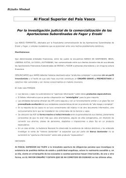 Al Fiscal Superior del País Vasco