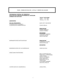 CONSEJO DE FACULTAD - ACTA No. 19 SESIÓN DEL 02-06