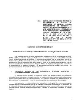 ref.: establece contenidos mínimos de reglamentos y textos
