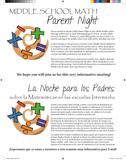 Parent Night - Orange County Schools