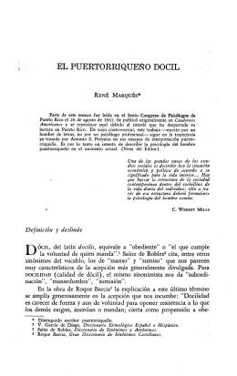 ELPUERTORRIQUE~O DOCIL Definición y deslinde DÓCIL, del