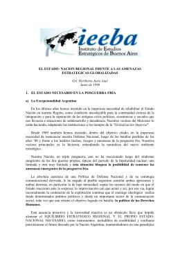 EL ESTADO- NACION REGIONAL FRENTE A LAS AMENAZAS
