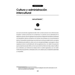 Cultura y administración intercultural