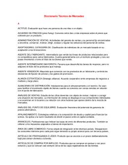 Diccionario Técnico de Mercadeo