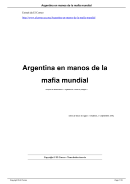 Argentina en manos de la mafia mundial