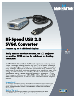 Hi-Speed USB 2.0 SVGA Converter