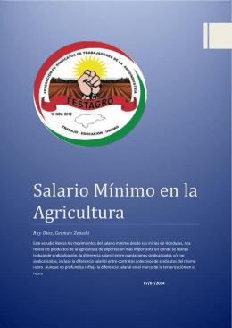 Salario Mínimo en la Agricultura