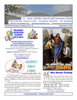 Children`s sunday Liturgy - St. Louis Catholic Church