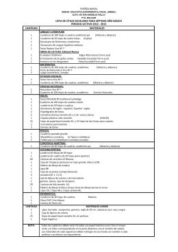 2013 lista de útiles escolares para séptimo año básico fuerza naval