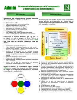 Admin Sistemas diseñados para apoyar la Transparencia y