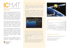 How can ICMAT contribute to your business? Excellence in