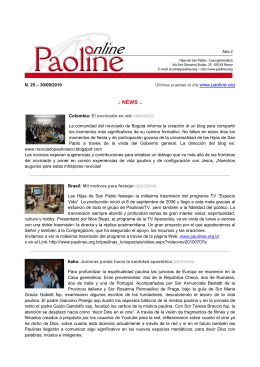 NEWS - Paoline.org
