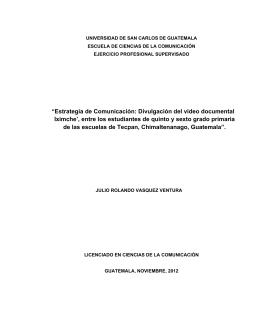 """""""Estrategia de Comunicación: Divulgación del"""