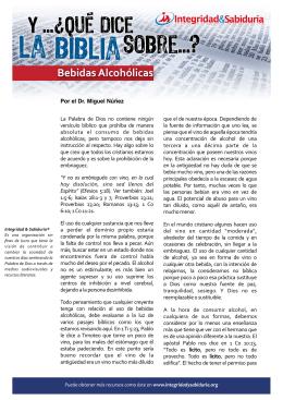 yqdlb bebidas alcohólicas - Ministerios Integridad & Sabiduría