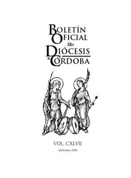 Abril – Junio - Diócesis de Córdoba