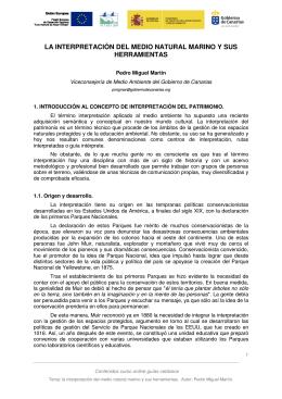 22. La interpretación del medio natural marino y sus herramientas.
