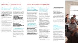 PREGUNTAS y RESPUESTAS - Ministerio de Educación
