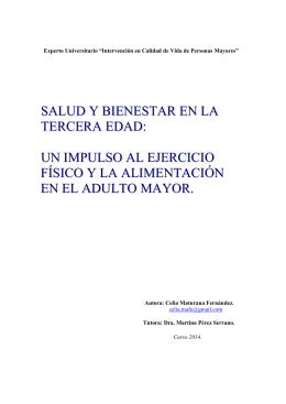 """Experto Universitario """"Intervención en Calidad de Vida de"""