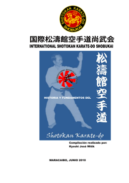 INTERNATIONAL SHOTOKAN KARATE-DO SHOBUKAI