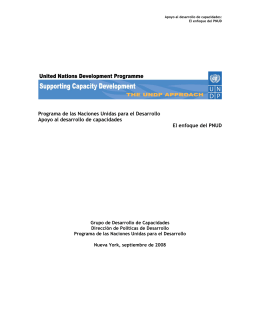 Programa de las Naciones Unidas para el Desarrollo Apoyo