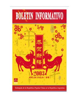 Boletín Informativo II - Embajada de la República Popular China en